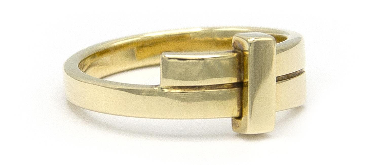 Geelgouden ring small - Mondria-3