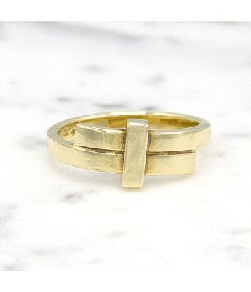 14 karaat geelgouden ring small - Mondria