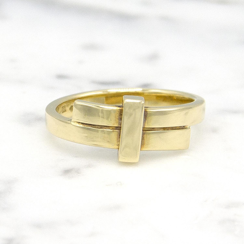Geelgouden ring small - Mondria-1