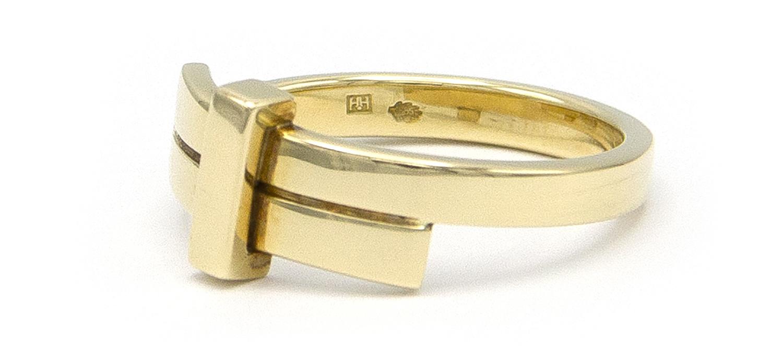Geelgouden ring small - Mondria-5