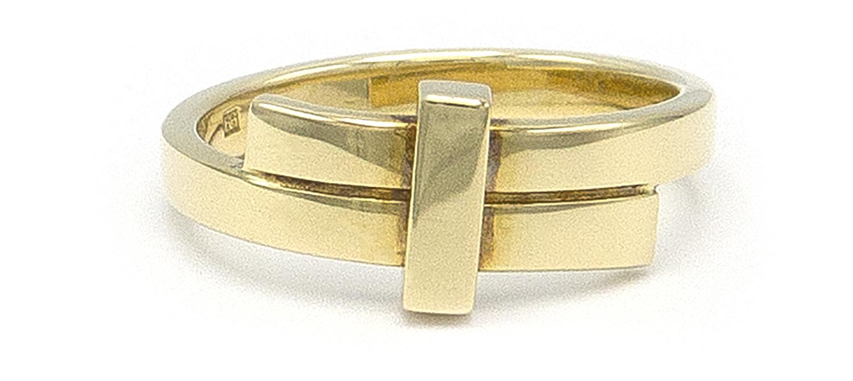Geelgouden ring small - Mondria-4