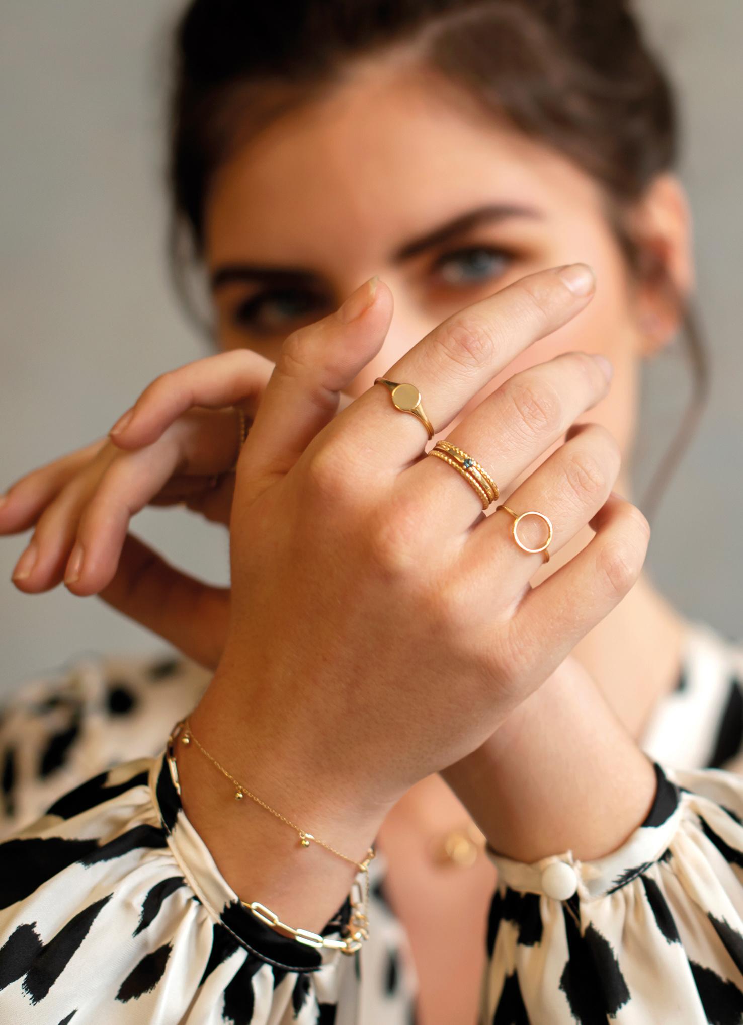 14 karaat geelgouden ring zegelring - Jackie - Signet-2