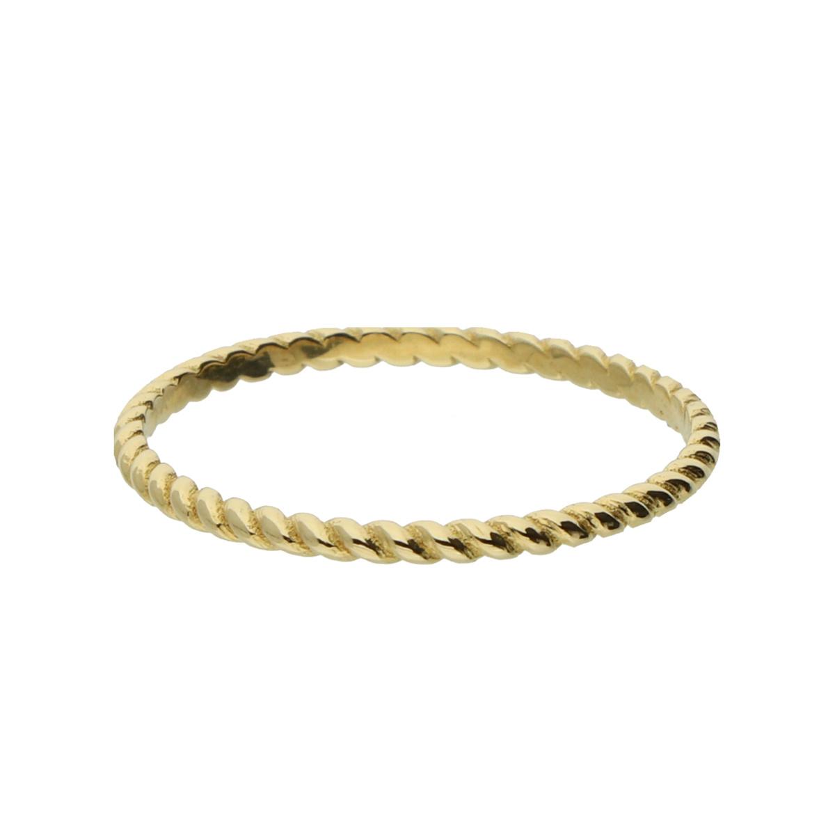 14 karaat geelgouden ring - Jackie - Twist-3