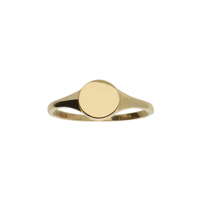 14 karaat geelgouden ring zegelring - Jackie - Signet-3