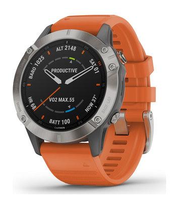 Garmin -  Horloge Heren - Fenix 6 Pro - Sapphire