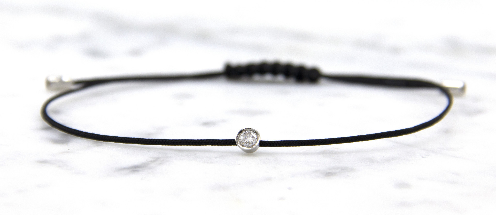 18 karaat witgouden armband met diamant - Hutjens Rope  -  Solitair-2