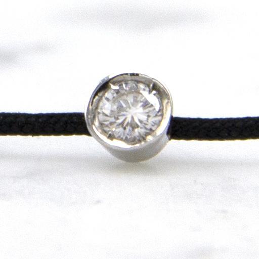 18 karaat witgouden armband met diamant - Hutjens Rope  -  Solitair-3