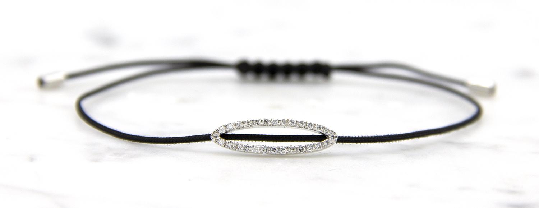 18 karaat witgouden armband met diamanten - Hutjens Rope - Ellipse-2