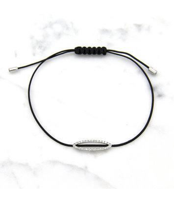 18 karaat witgouden armband met diamanten - Hutjens Rope - Ellipse