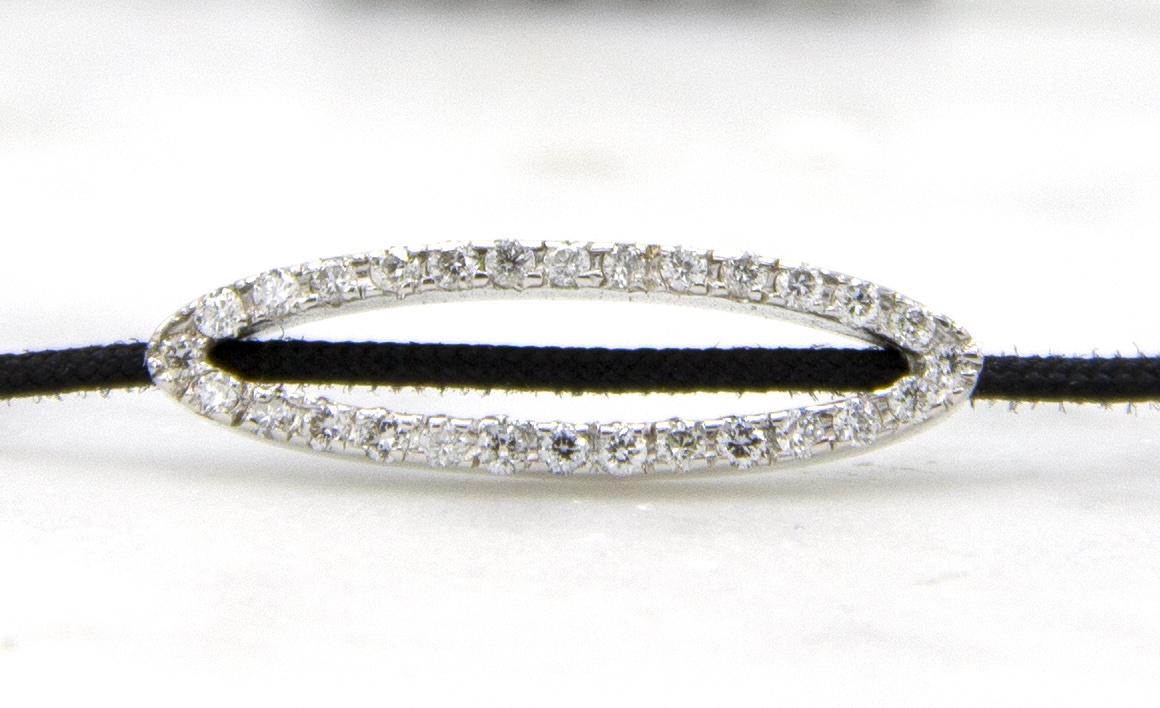 18 karaat witgouden armband met diamanten - Hutjens Rope - Ellipse-3
