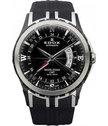 Edox - Horloge Heren - Grand Ocean GMT - 93004-357N-NIN