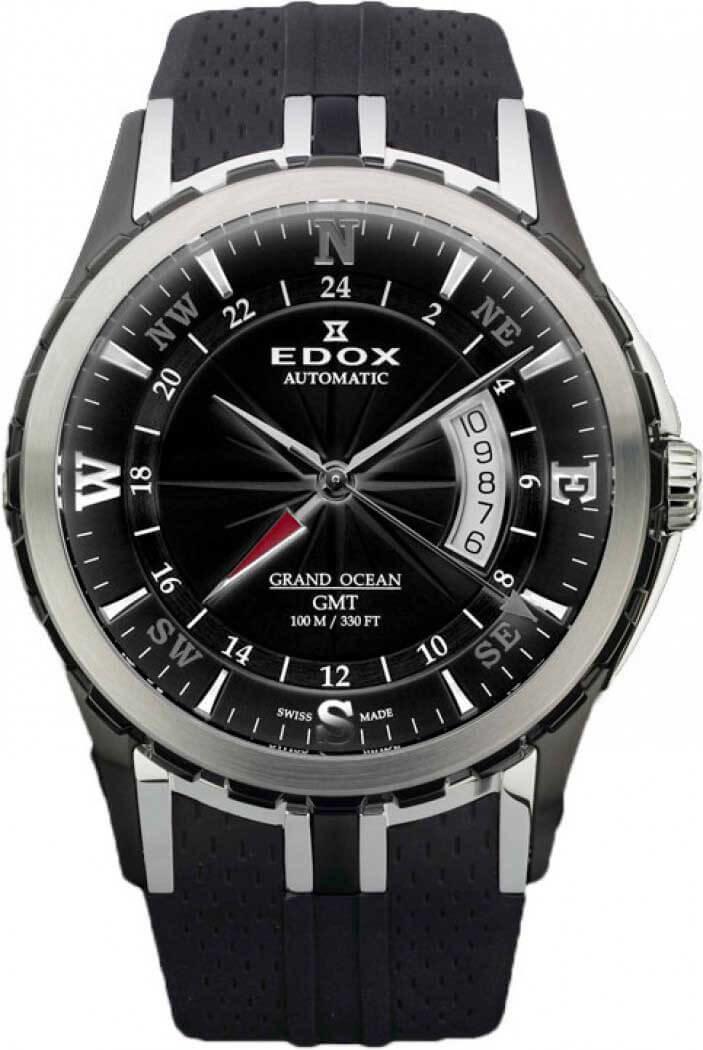 Edox - Horloge Heren - Grand Ocean GMT - 93004-357N-NIN-1
