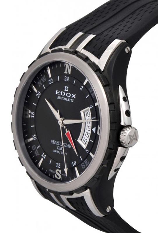 Edox - Horloge Heren - Grand Ocean GMT - 93004-357N-NIN-2