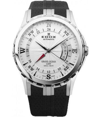 Edox - Horloge Heren - Grand Ocean GMT - 93004-3-AIN