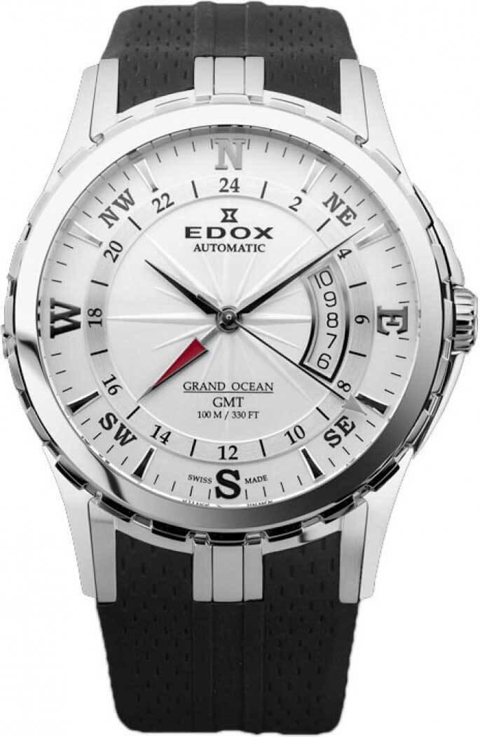 Edox - Horloge Heren - Grand Ocean GMT - 93004-3-AIN-1