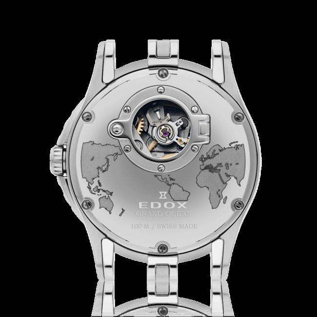 Edox - Horloge Heren - Grand Ocean GMT - 93004-3-AIN-3
