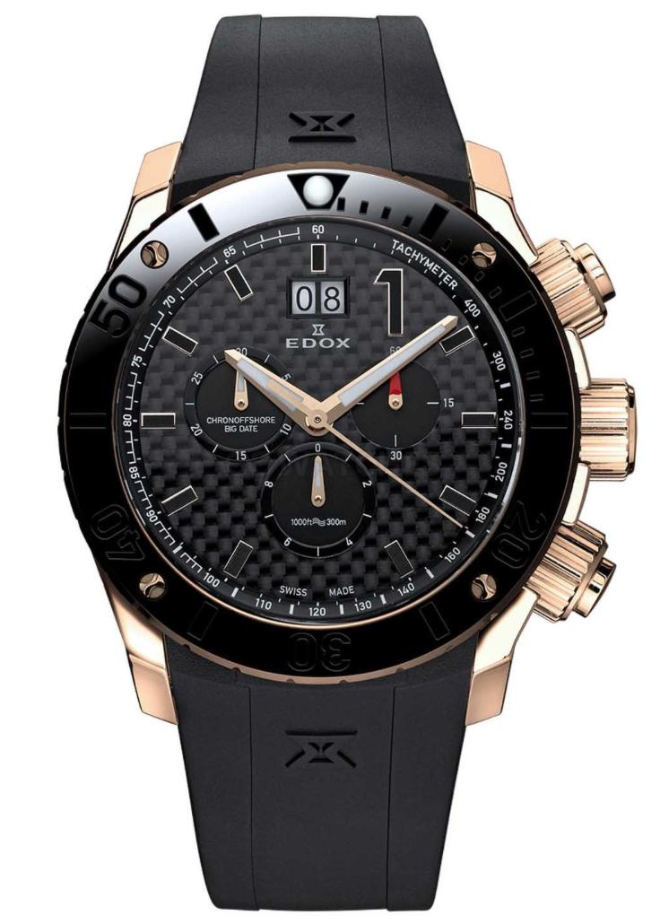Edox - Horloge Heren - Chronoffshore - 10020-37R-NIR-1