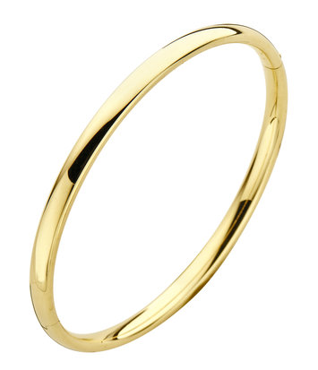 14 karaat geelgouden armband - Ovaal 4 mm - Fjory - Slavenarmband