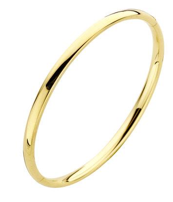 14 karaat geelgouden armband - Rond 4 mm - Fjory - Slavenarmband
