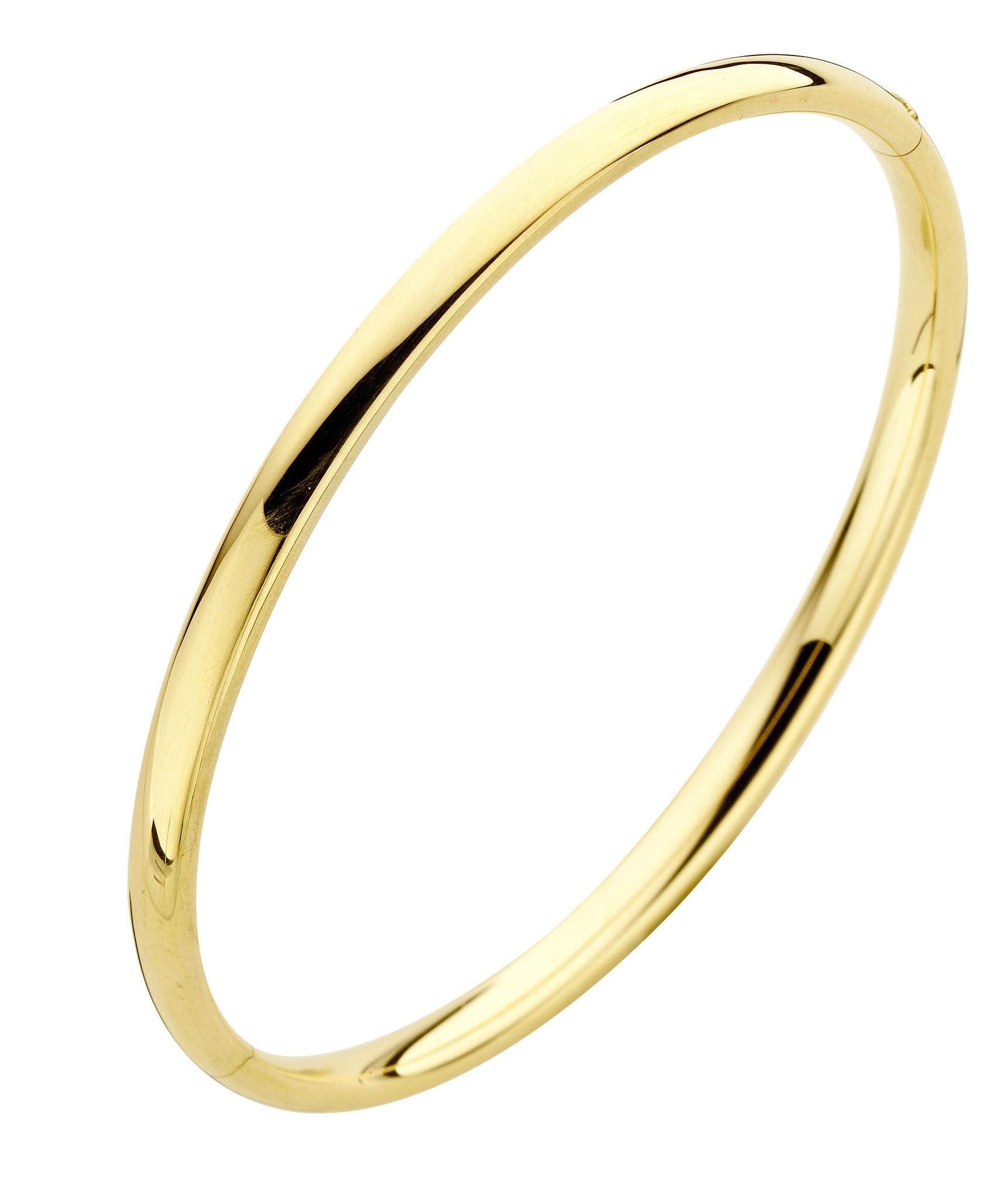 14 karaat geelgouden armband - Rond 4 mm - Fjory - Slavenarmband-1