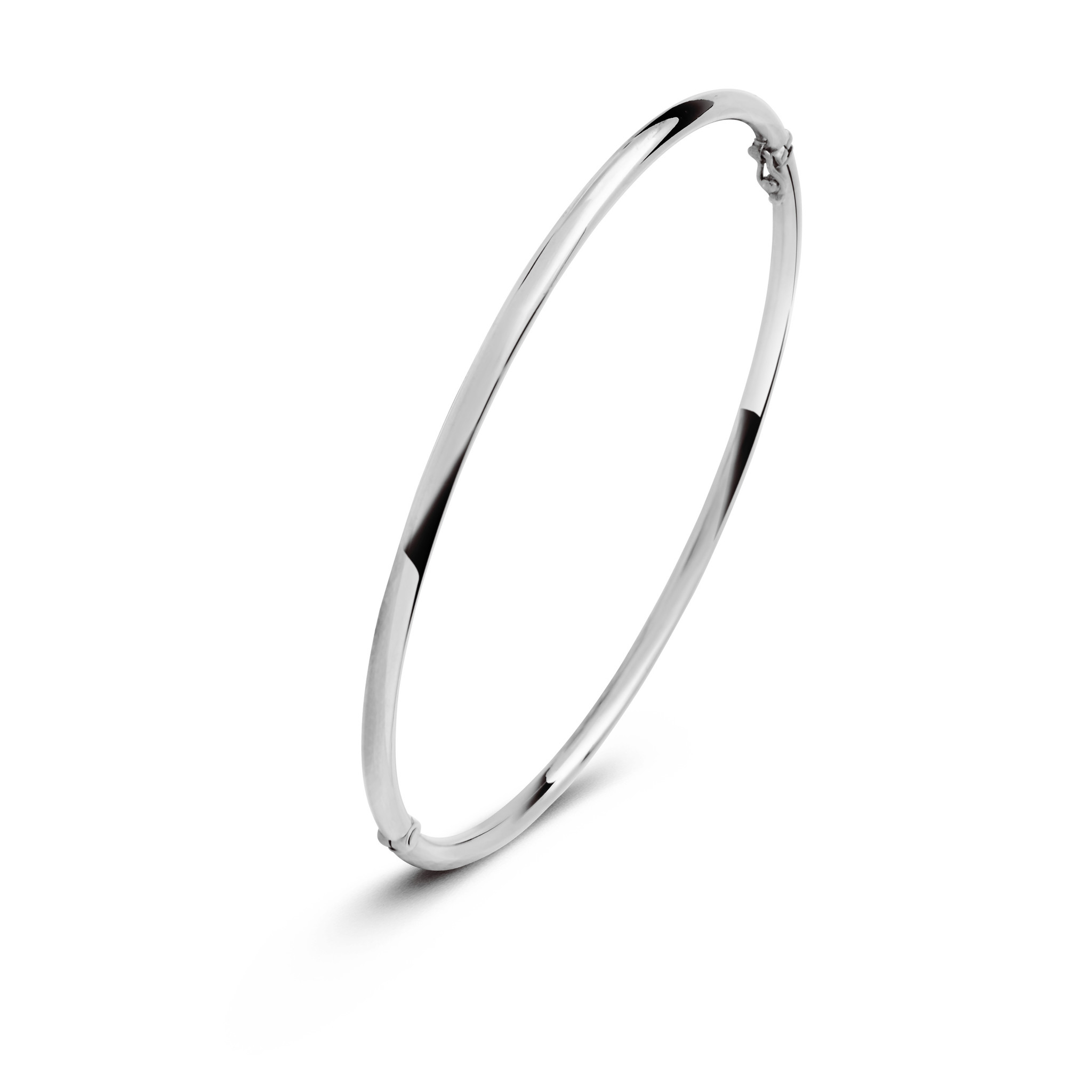 14 karaat witgouden armband - Rond 2 mm - Fjory - Slavenarmband-2
