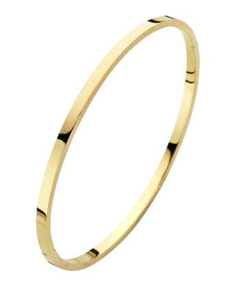 14 karaat geelgouden armband - Recht 3 mm - Fjory - Slavenarmband