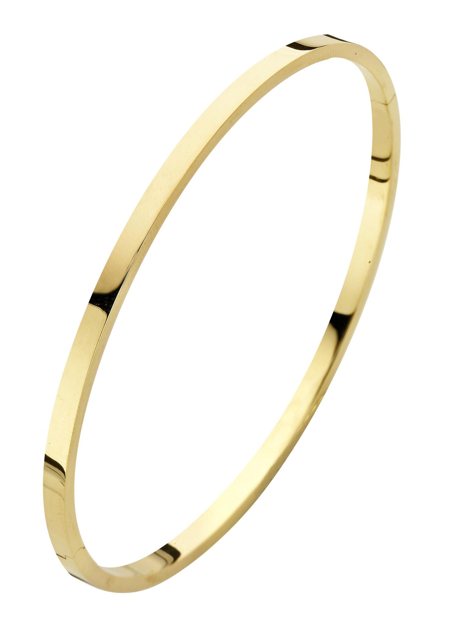 14 karaat geelgouden armband - Recht 3 mm - Fjory - Slavenarmband-1