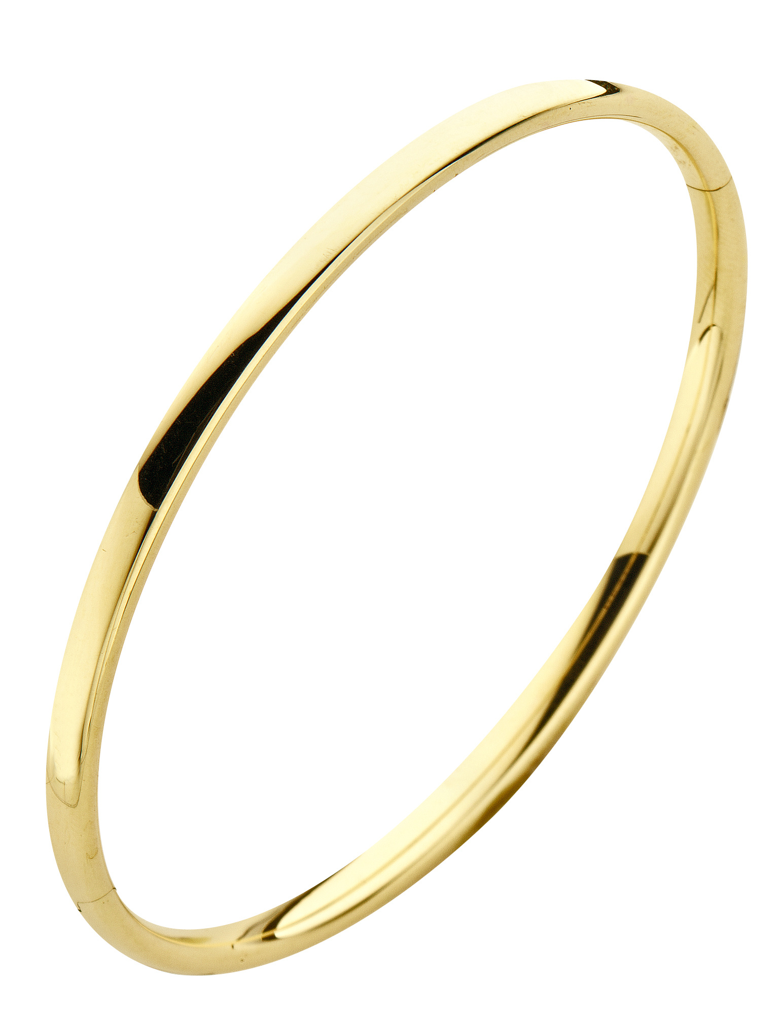 14 karaat geelgouden armband - Ovaal 3 mm - Fjory - Slavenarmband-2