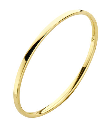 14 karaat geelgouden armband - Ovaal 3 mm - Fjory - Slavenarmband