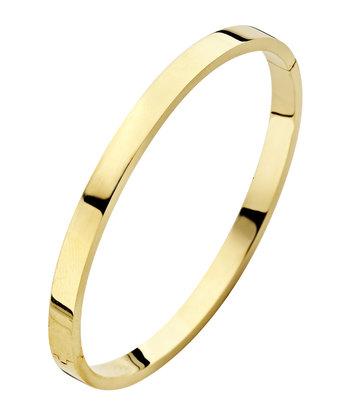 14 karaat geelgouden armband - Recht 5 mm - Fjory - Slavenarmband
