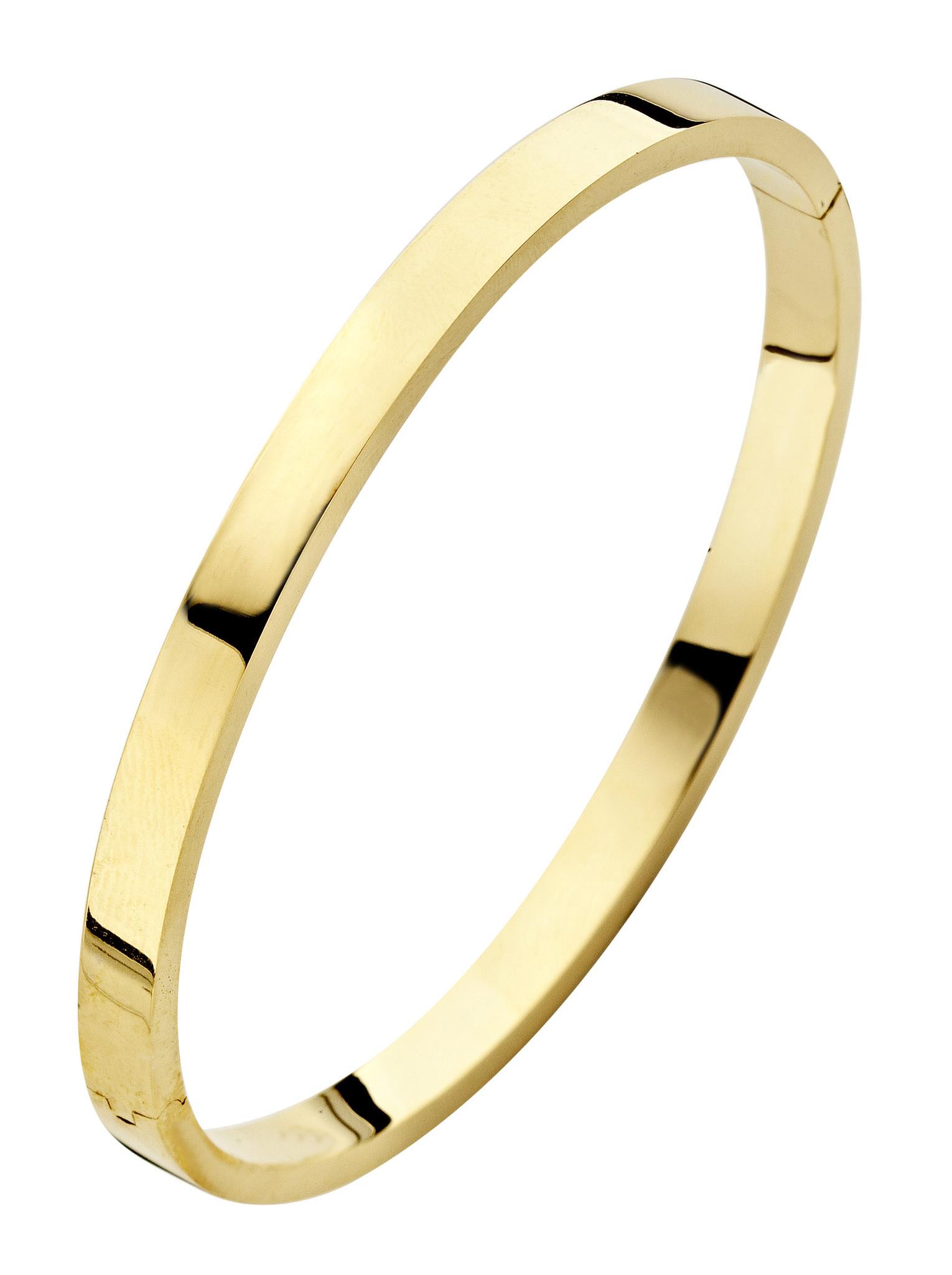 14 karaat geelgouden armband - Recht 5 mm - Fjory - Slavenarmband-1