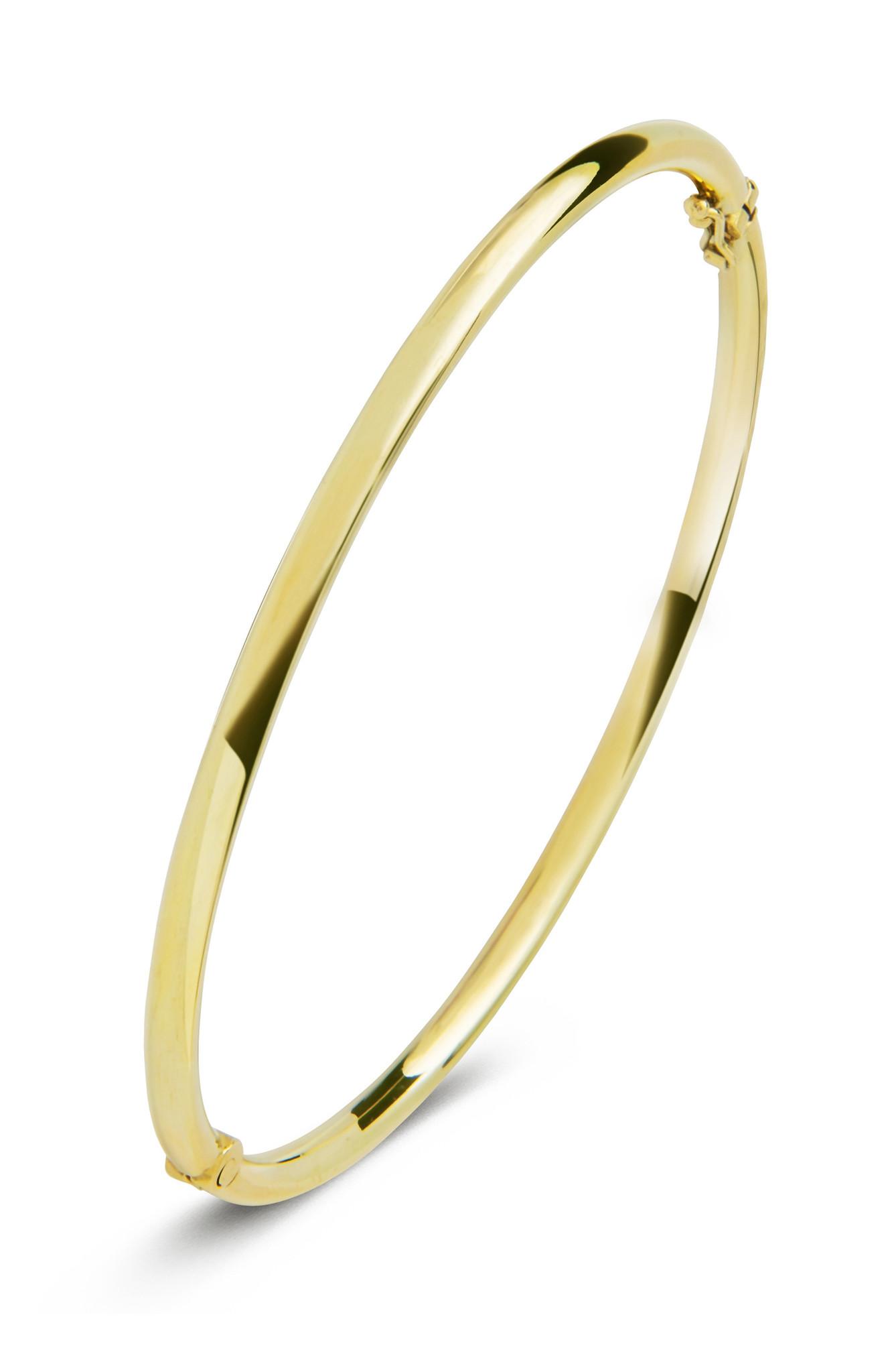 14 karaat geelgouden armband - Rond 3 mm - Fjory - Slavenarmband-2