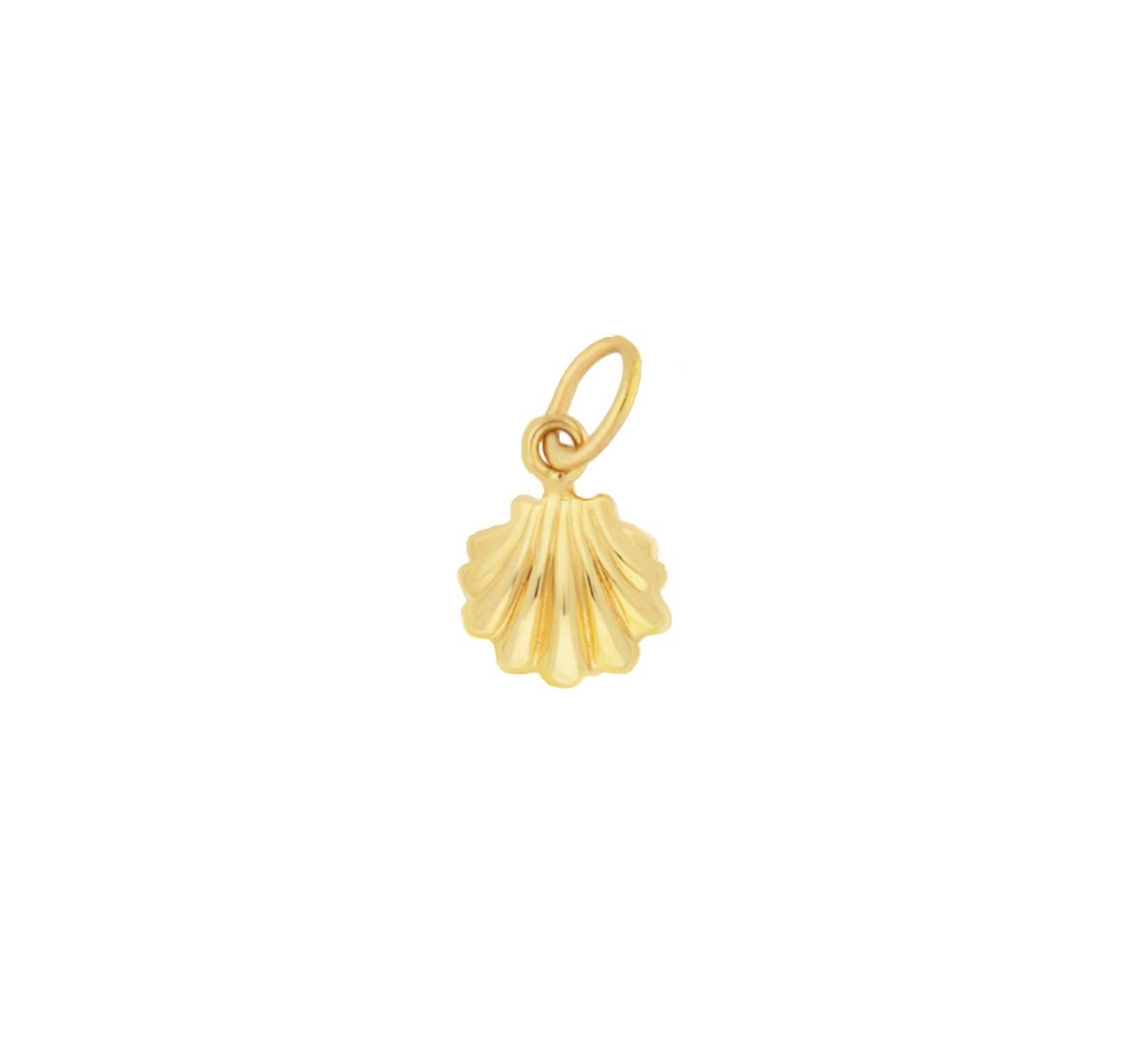 14 karaat geelgouden dames ketting met Seashell - Jackie-4
