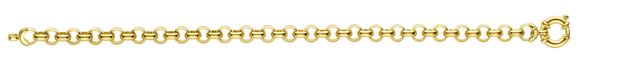 14 karaat geelgouden Jasseron armband - Fjory-2