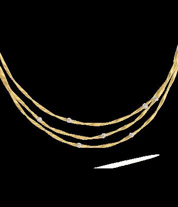 18 karaat geelgouden dames ketting - Marco Bicego - Marrakech Diamant