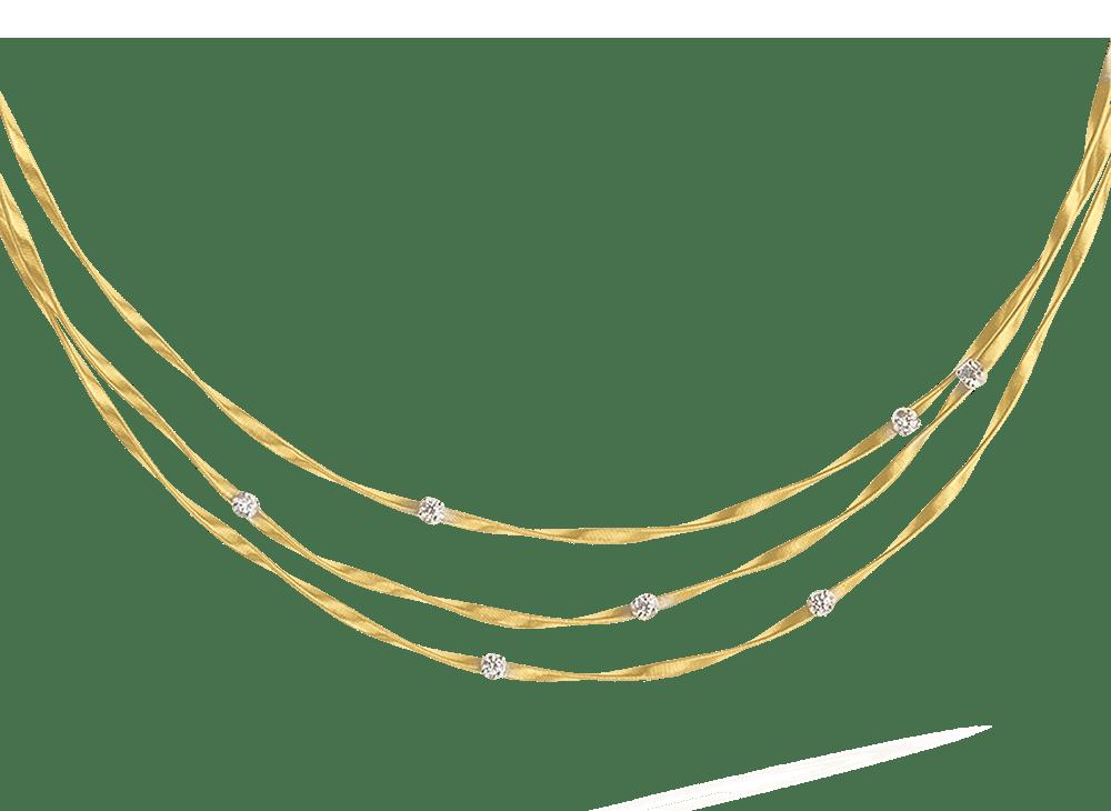 18 karaat geelgouden dames ketting - Marco Bicego - Marrakech Diamant-1