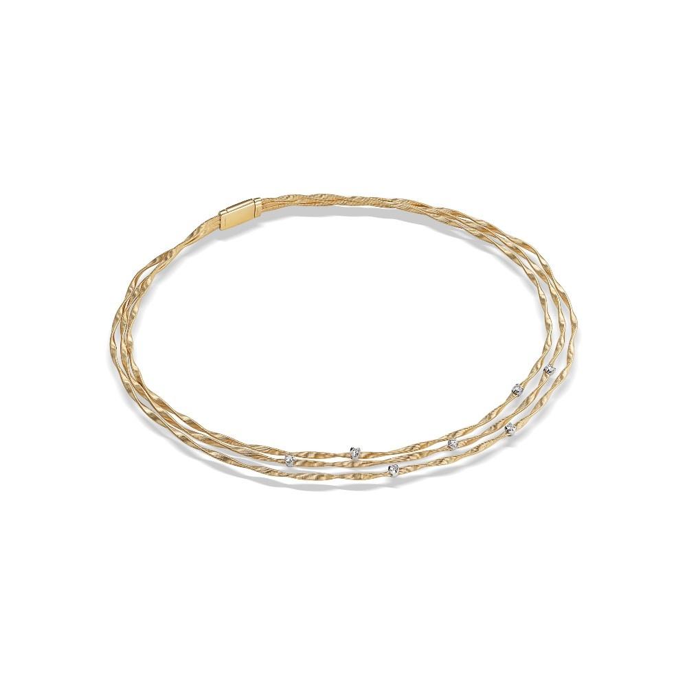 18 karaat geelgouden dames ketting - Marco Bicego - Marrakech Diamant-3