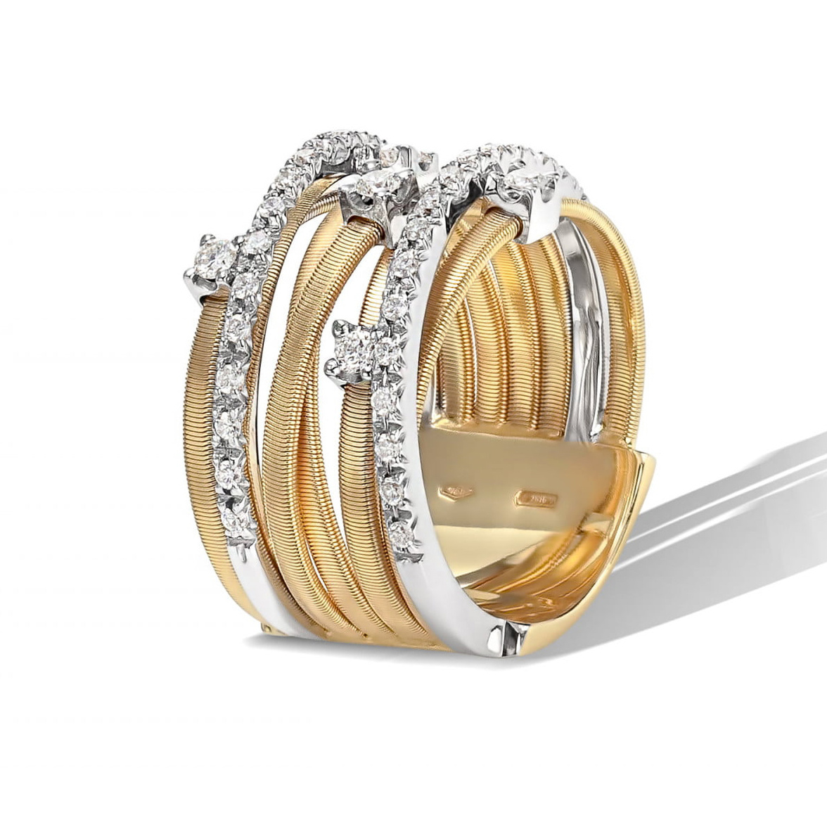 18 karaat geelgouden dames ring met diamant - Marco Bicego - Goa-3
