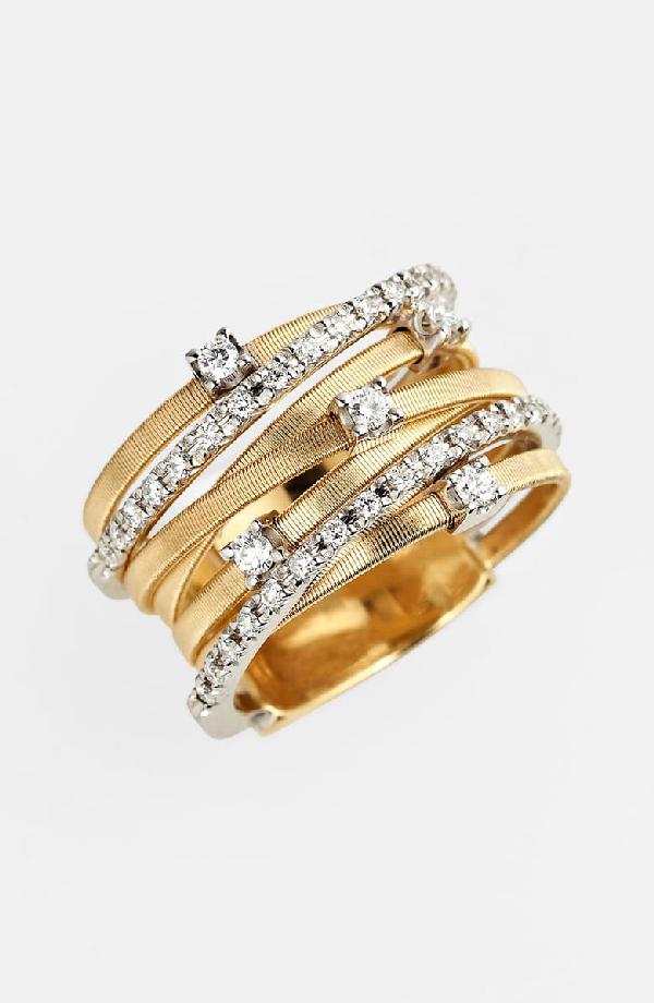 18 karaat geelgouden dames ring met diamant - Marco Bicego - Goa-4