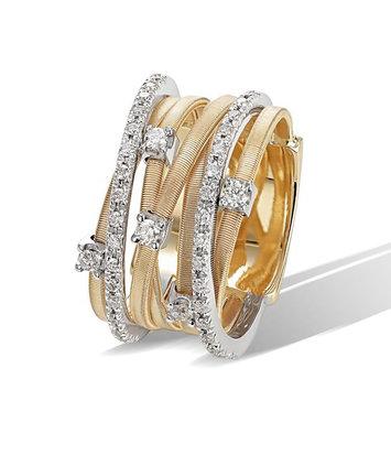 18 karaat geelgouden dames ring met diamant - Marco Bicego - Goa