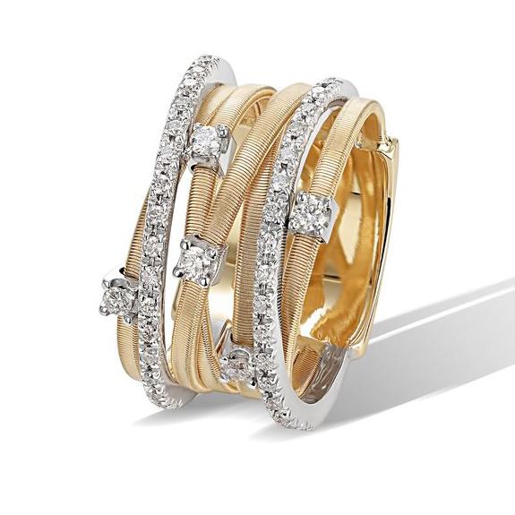 18 karaat geelgouden dames ring met diamant - Marco Bicego - Goa-1