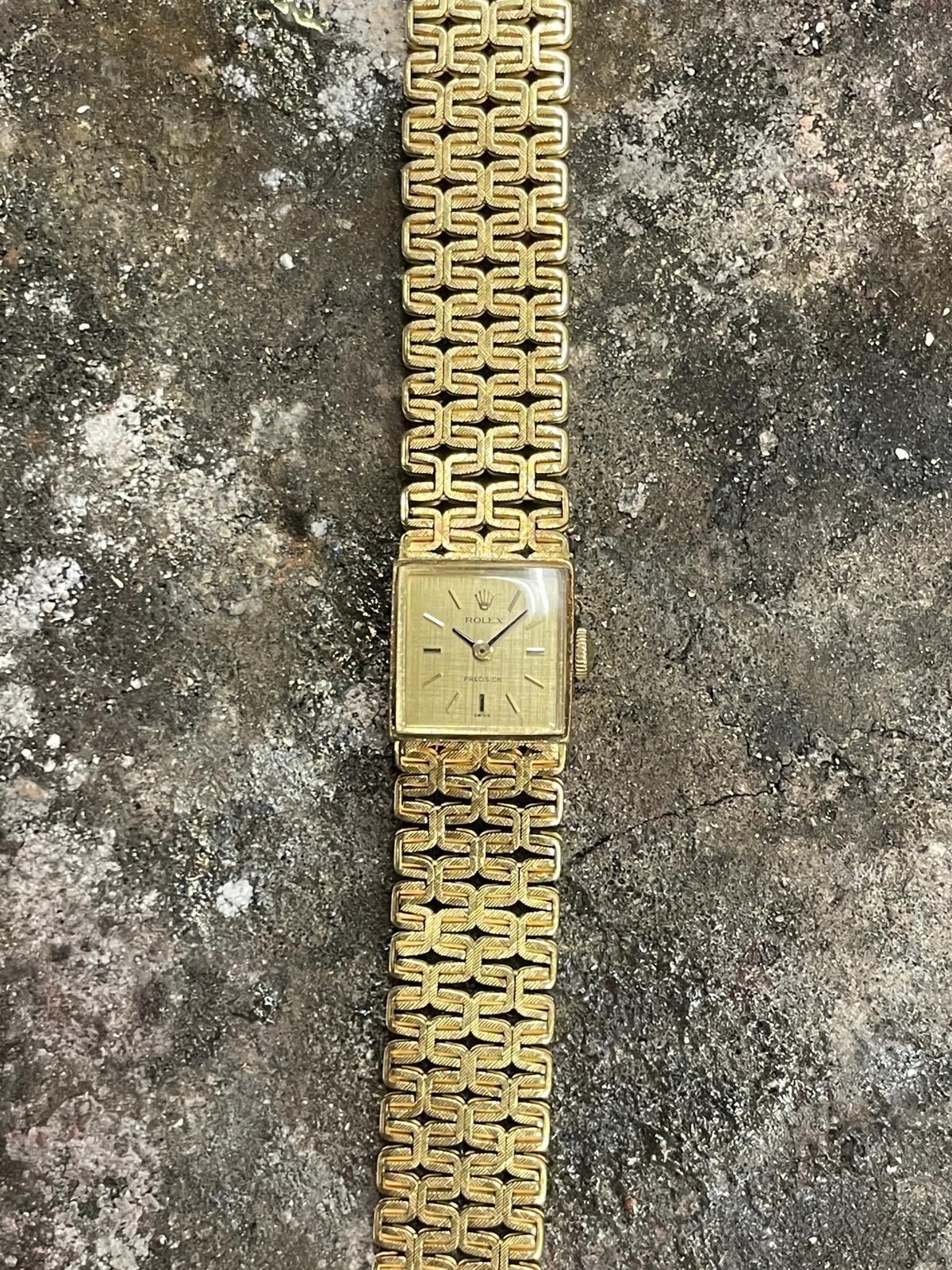 Rolex Precision -  Dames Horloge - 18 karaat geelgoud-1