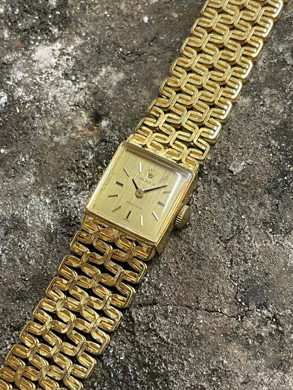 Rolex Precision -  Dames Horloge - 18 karaat geelgoud-7