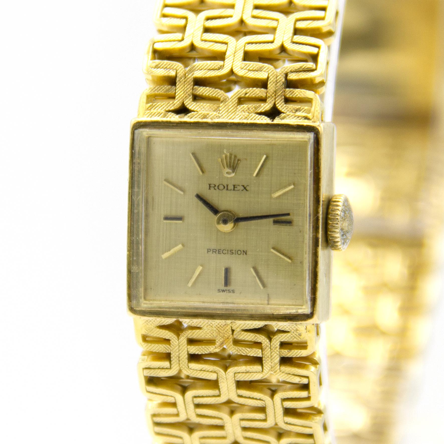 Rolex Precision -  Dames Horloge - 18 karaat geelgoud-2