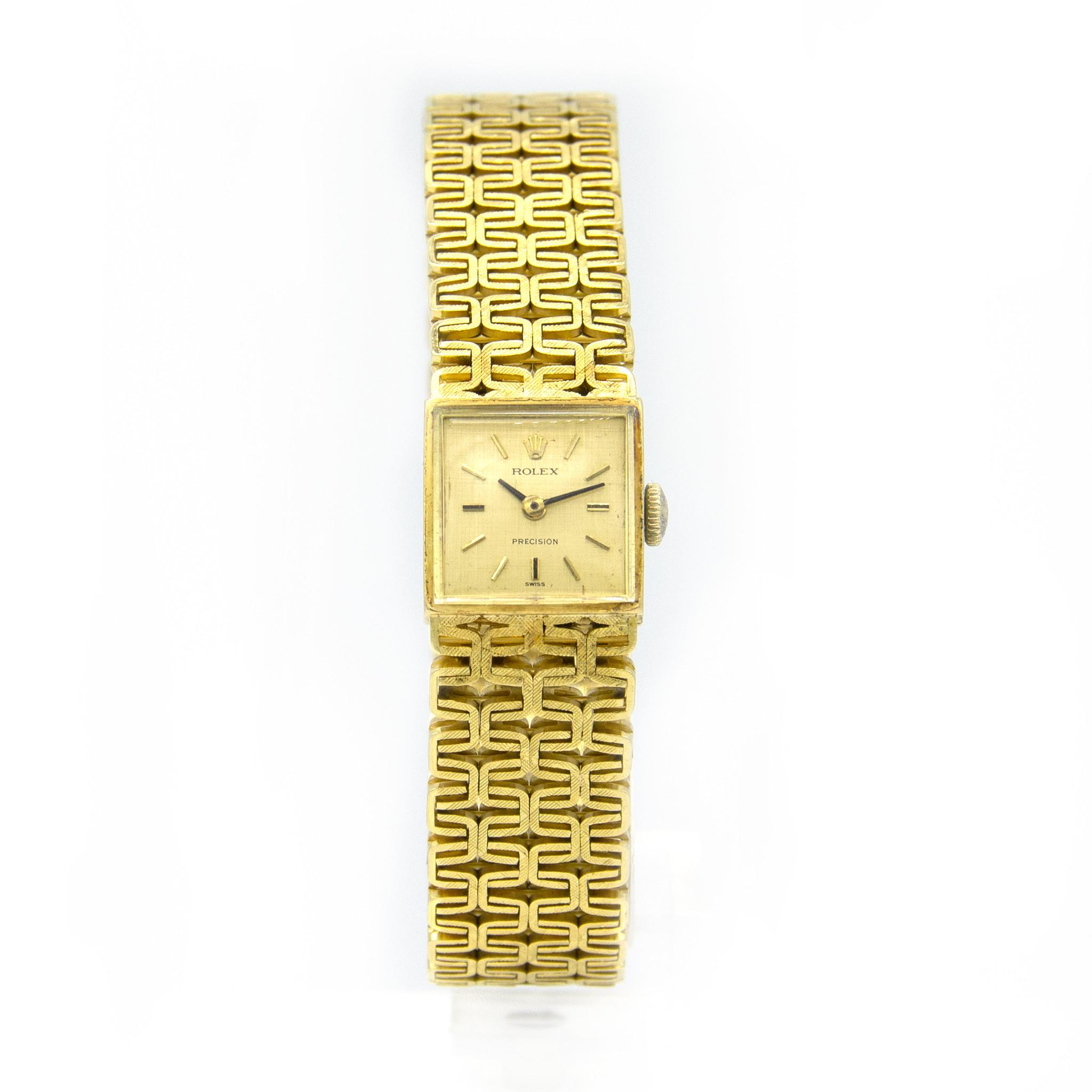 Rolex Precision -  Dames Horloge - 18 karaat geelgoud-3