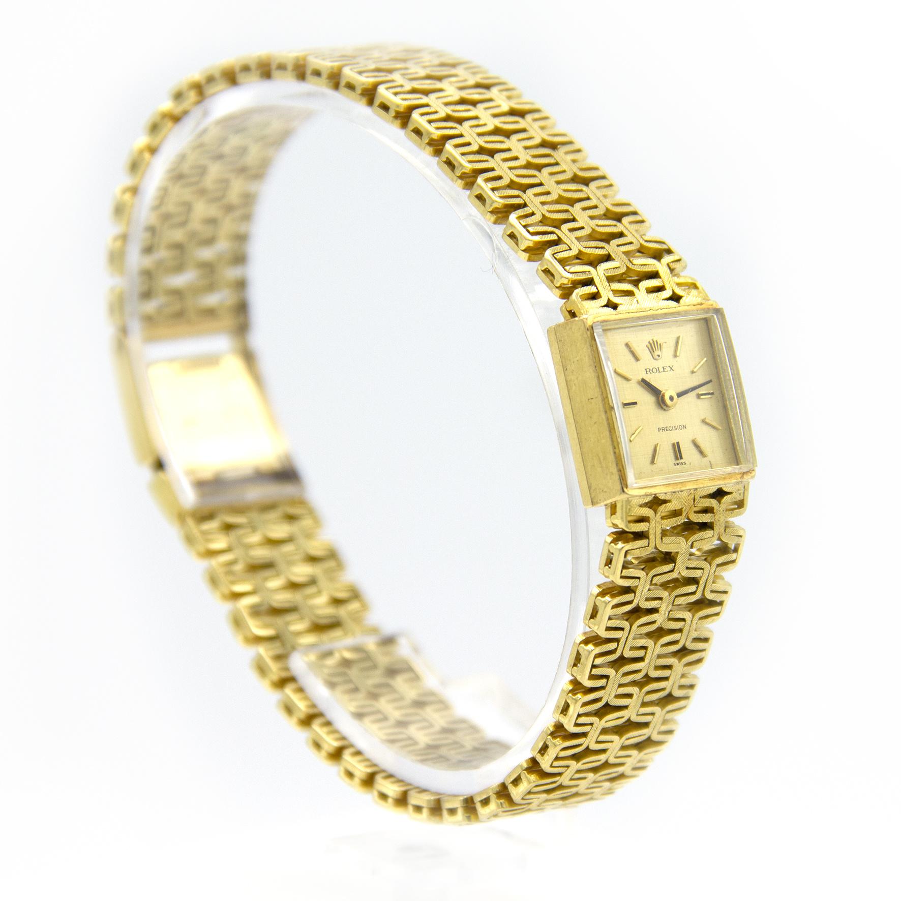 Rolex Precision -  Dames Horloge - 18 karaat geelgoud-5