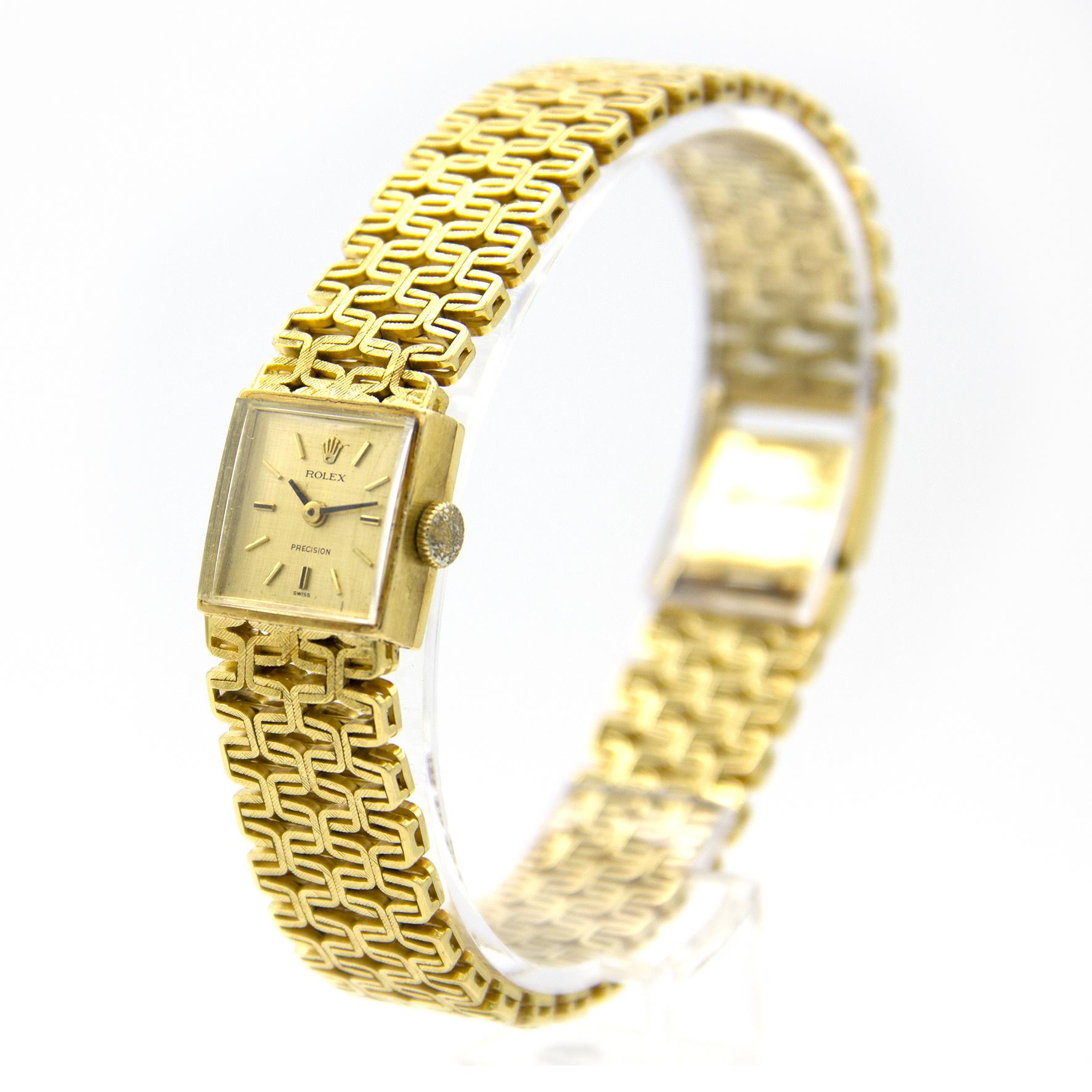 Rolex Precision -  Dames Horloge - 18 karaat geelgoud-4