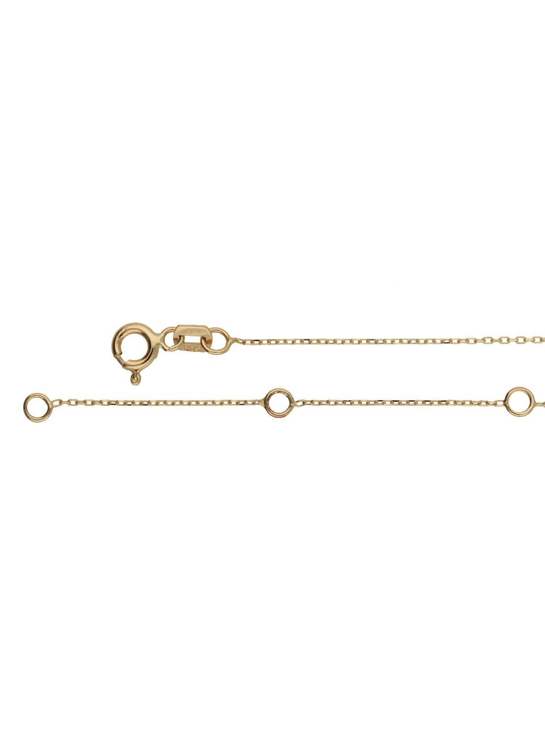 14 karaat geelgouden dames ketting - Jackie - Five Rings Necklace-2