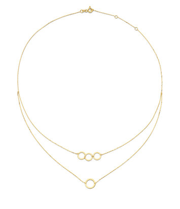 14 karaat geelgouden dames ketting - Jackie - De Circles Necklace