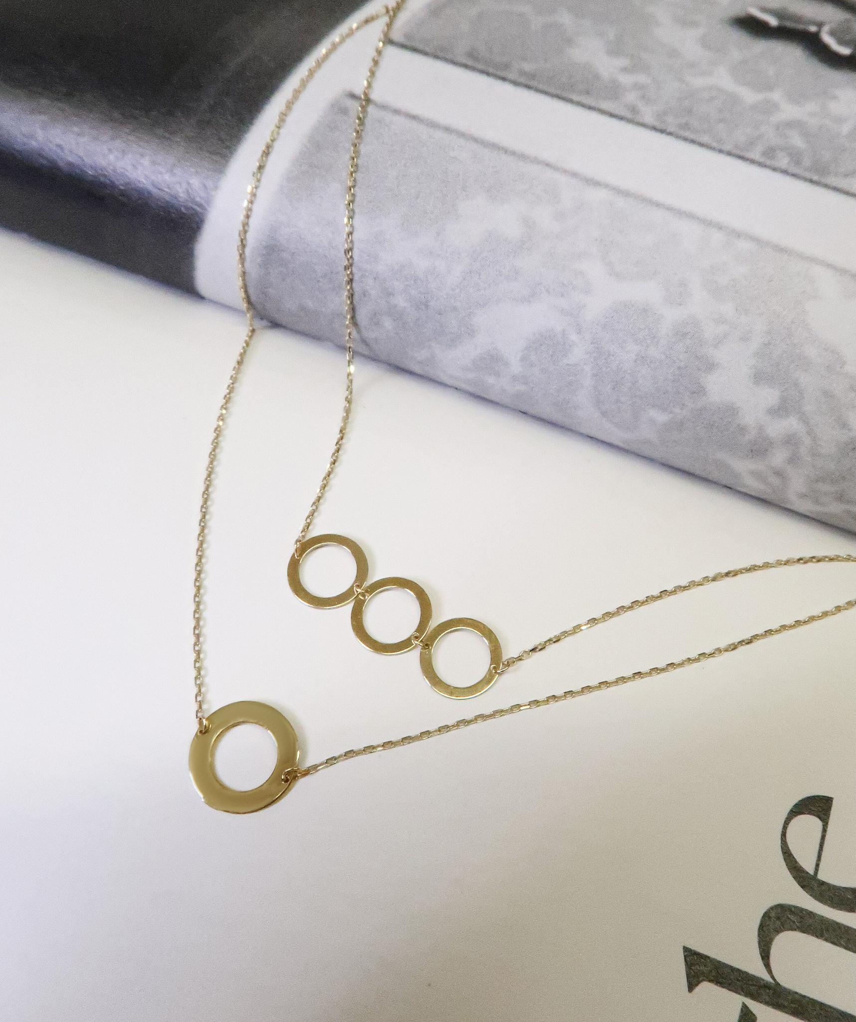 14 karaat geelgouden dames ketting - Jackie - De Circles Necklace-3